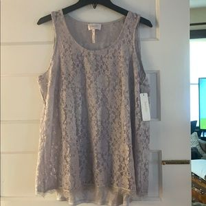 Laundry lace tank with cami